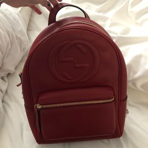 1cb7d068e2df27 Gucci Bags | Womens Red Gg Soho Backpack | Poshmark